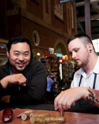 David Chang with Reid Walton