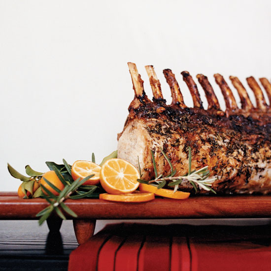 Pork Roast with Sausage, Fruit and Nut Stuffing