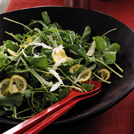 Lemon and Arugula Salad with Parmesan Cheese