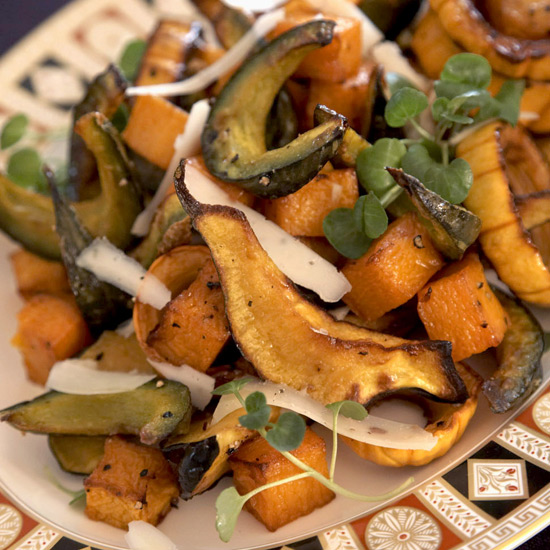 Roasted Squash with Maple Syrup and Sage Cream