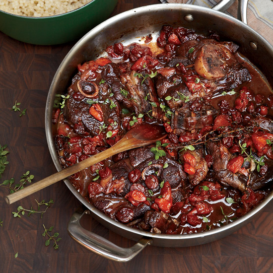 Zinfandel-Braised Lamb Chops with Dried Fruit