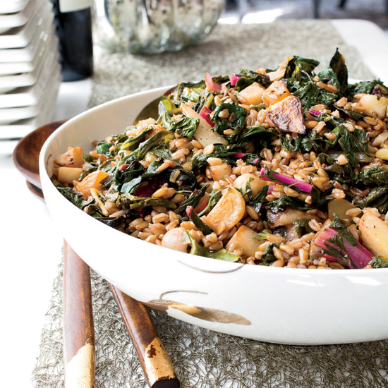 Farro Salad with Turnips and Greens