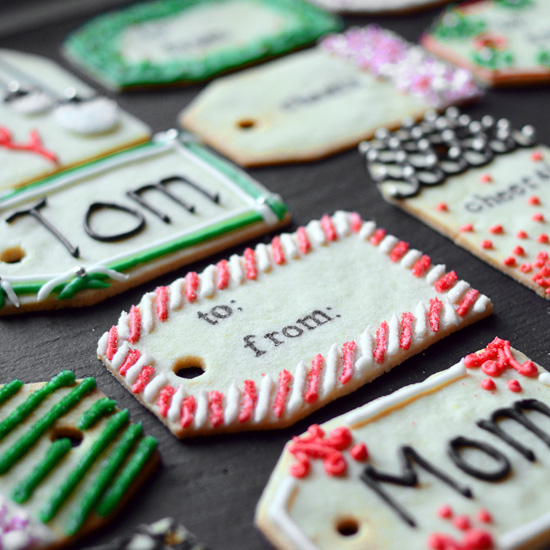 Christmas cookie gift tags food wine for Christmas cookies to make for gifts