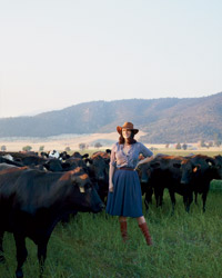 Anya Fernald at Belcampo's California ranch.