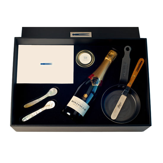 French Laundry Sparkling Wine & Caviar Gift Set: $1,000