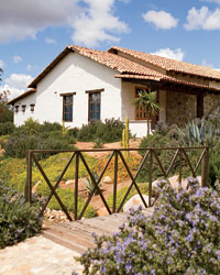 Adobe Guadalupe bed and breakfast in the Valle de Gaudalupe.