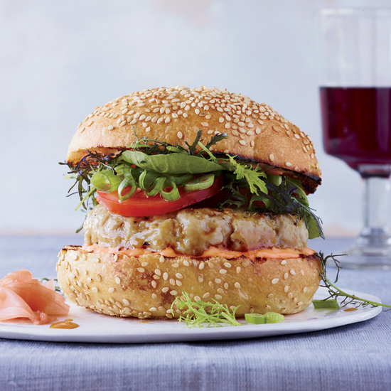 Spicy Tuna Burgers with Soy Glaze Recipe