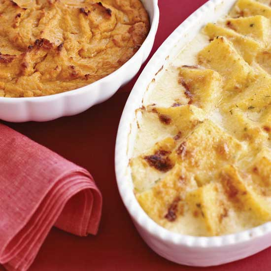 Herbed Polenta and Parmesan Gratin