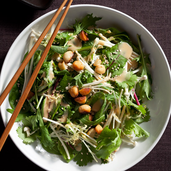 Mixed Asian Salad with Macadamia Nuts Recipe - Jeff Tunks | Food ...