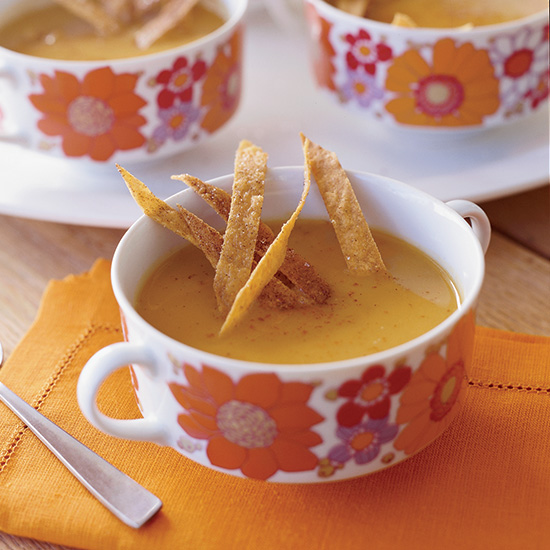 Sweet Potato, Chipotle and Apple Soup