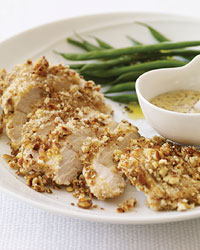 Mustard-Baked Chicken with a Pretzel Crust