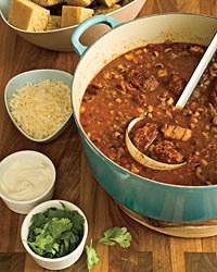 Pork Cheek and Black-Eyed Pea Chili