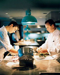 Jean-Georges Vongerichten and His Chef Son in the Kitchen
