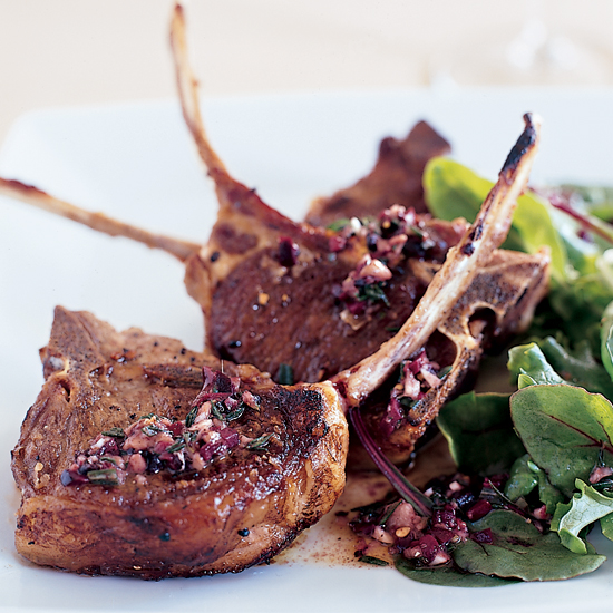 Grilled Lamb Chops with Provençal Dressing