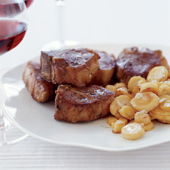 Lamb Chops with Parsnips