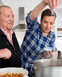 Jimmy Fallon and Mario Batali Cooking