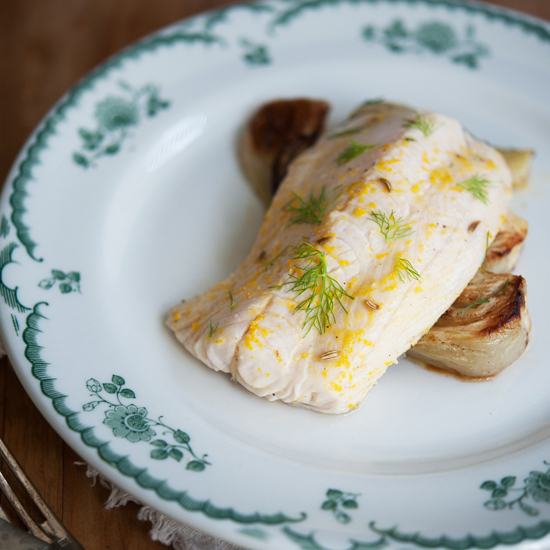 <p>Orange and Fennel Roasted Cod</p>