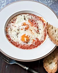Marisa May Ends the Day with Baked Eggs