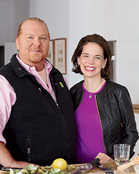 Dana Cowin and Mario Batali