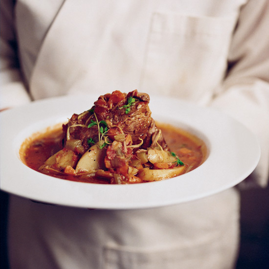 Smoky Tomato-Braised Veal Shoulder with Potatoes