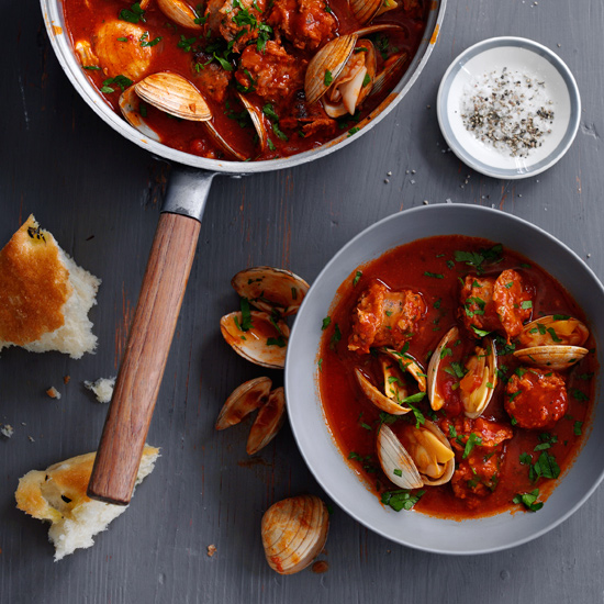 Cataplana Stew with Sausage and Clams
