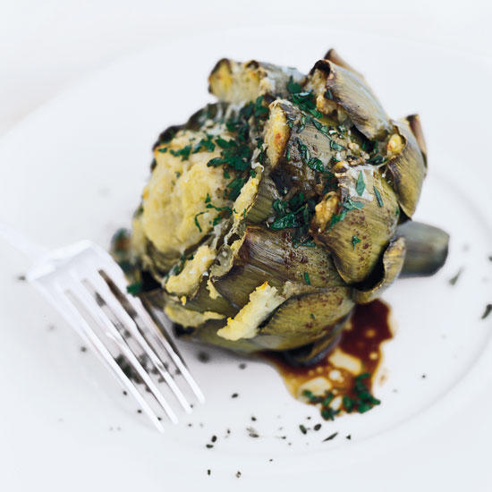 Falsone's Roasted Artichoke-Stuffed Artichokes