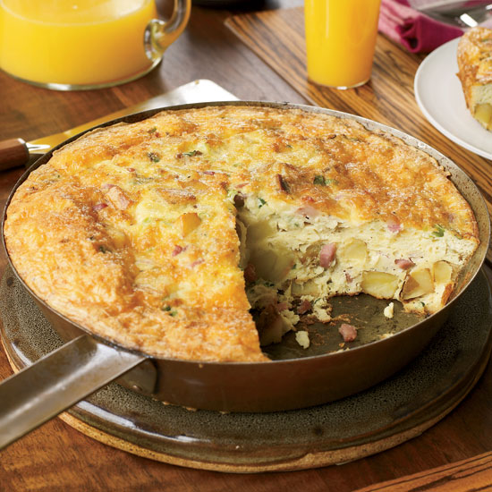 Potato Frittata with Prosciutto and Gruyère