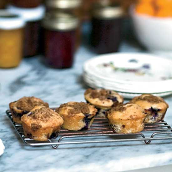Blueberry–Sour Cream Muffins