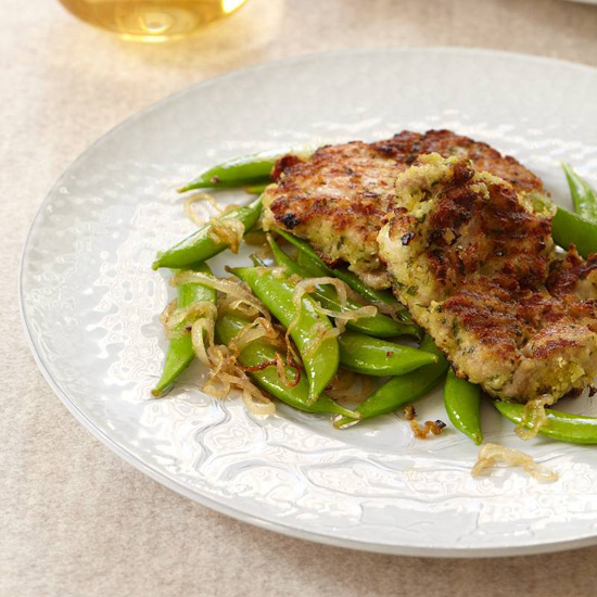 Chicken Thighs With Garlicky Crumbs And Snap Peas Recipe Mario Batali Food Amp Wine