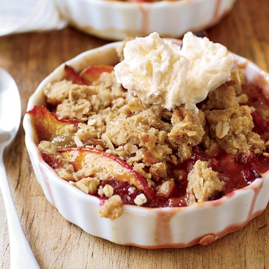 Nectarine-and-Plum Crisp with Oatmeal Streusel