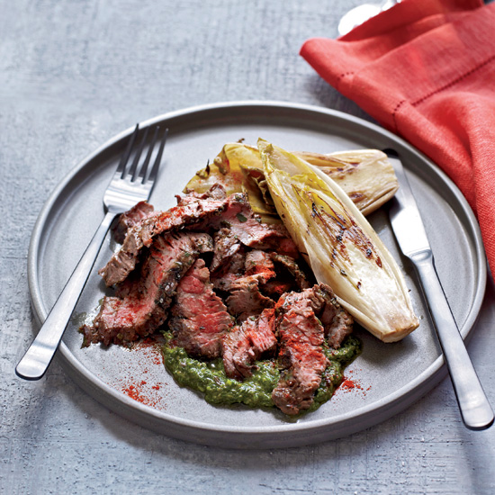 Mario Batali's Italian Recipes for the Grill like Grilled Skirt Steak with Salsa Verde
