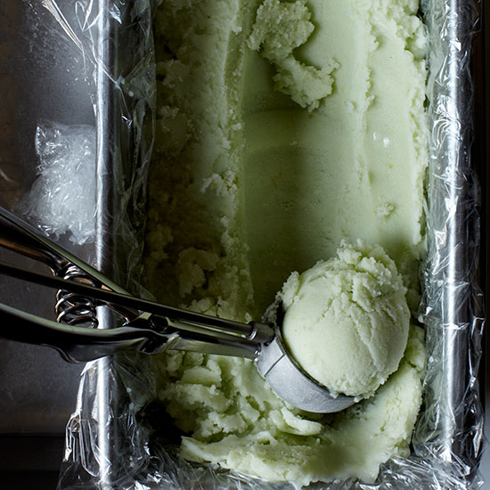 Lemon & Fresh Sorrel Sherbet