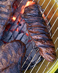 Chile-Glazed Hanger Steak