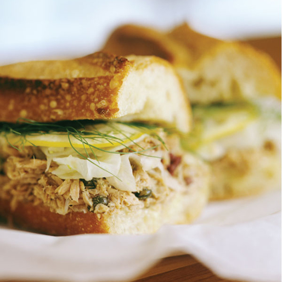 'wichcraft's tuna sandwich with capers and lemon confit