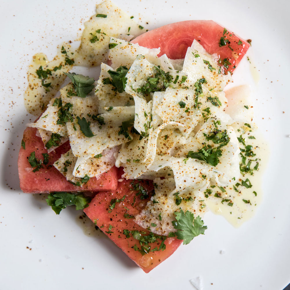 Watermelon Slabs with Jicama