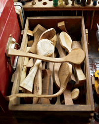 Kitchen Tools: Hand-Carved Wooden Spoons