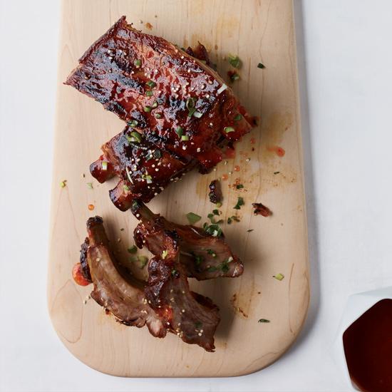 Ribs with Hot-Pepper-Jelly Glaze