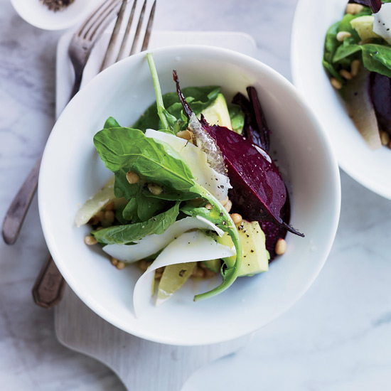 Beet, Avocado and Arugula Salad