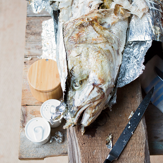 Grilled Whole Fish with Chile and Lime