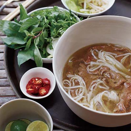 Spiced Beef Pho with Sesame Chile Oil