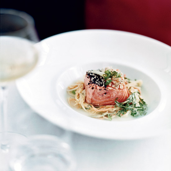 Olive Oil-Poached Salmon with Fresh Horseradish