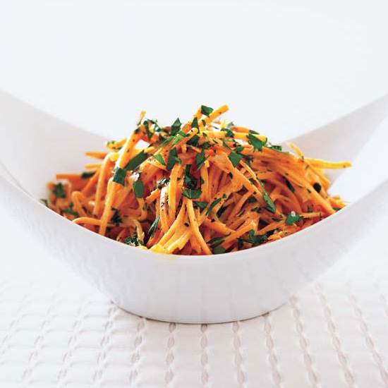 Marinated Carrot Salad with Ginger and Sesame Oil
