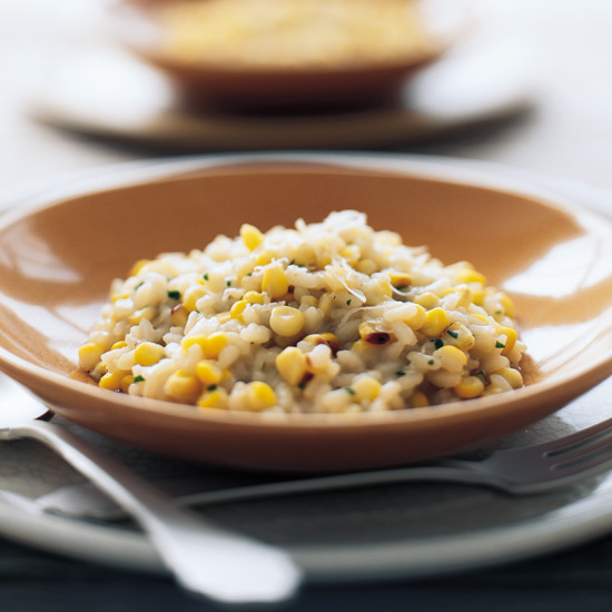 Pan-Roasted Corn Risotto