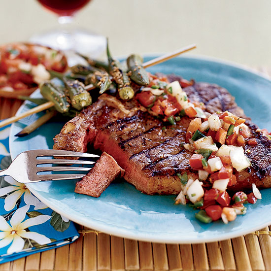 Smoky Spiced T-Bone Steaks with Chilean Salsa