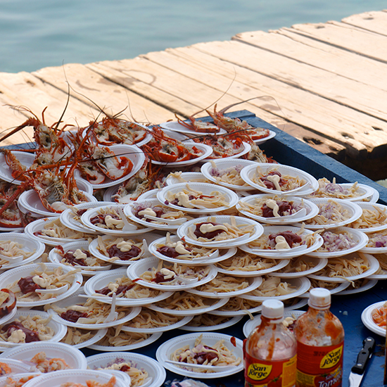 Fresh Seafood on the Islas del Rosario