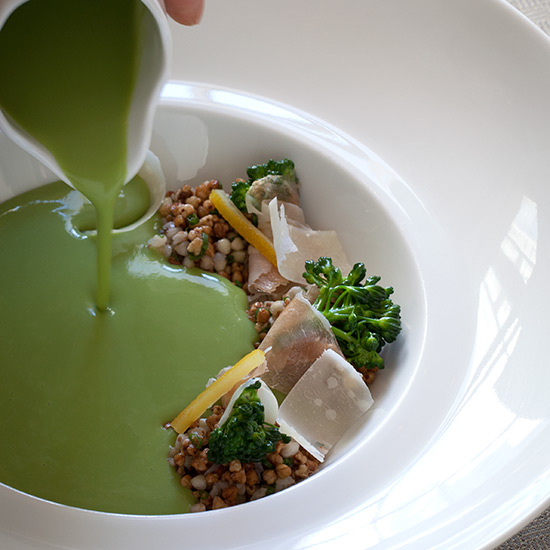 Broccoli Soup at The Lobby at the Peninsula Chicago