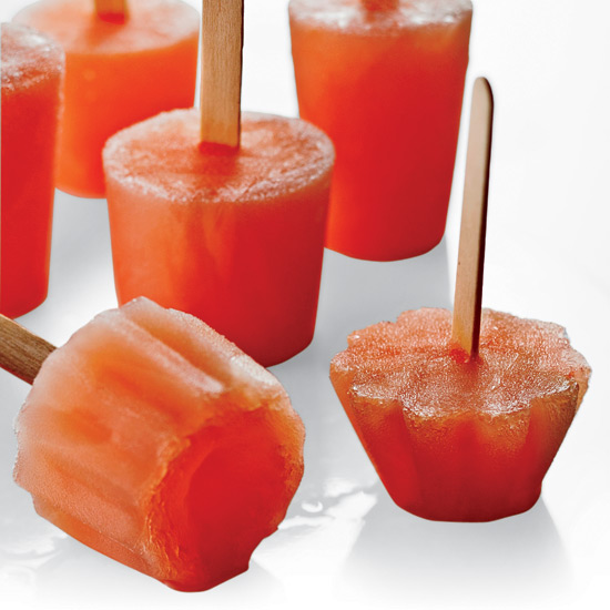 Ruby Grapefruit and Campari Ice Pops