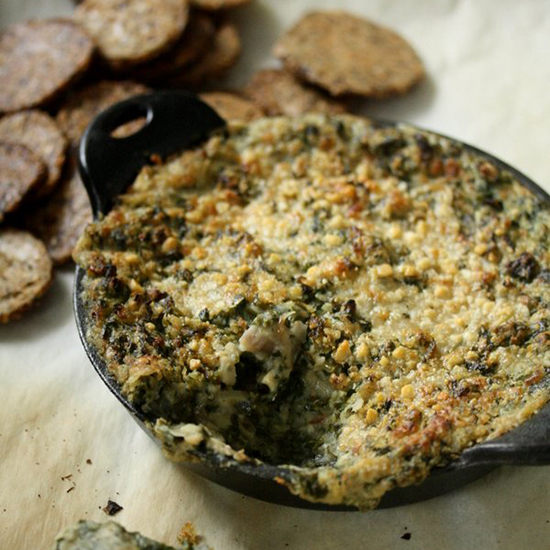 Warm Kale and White Bean Dip