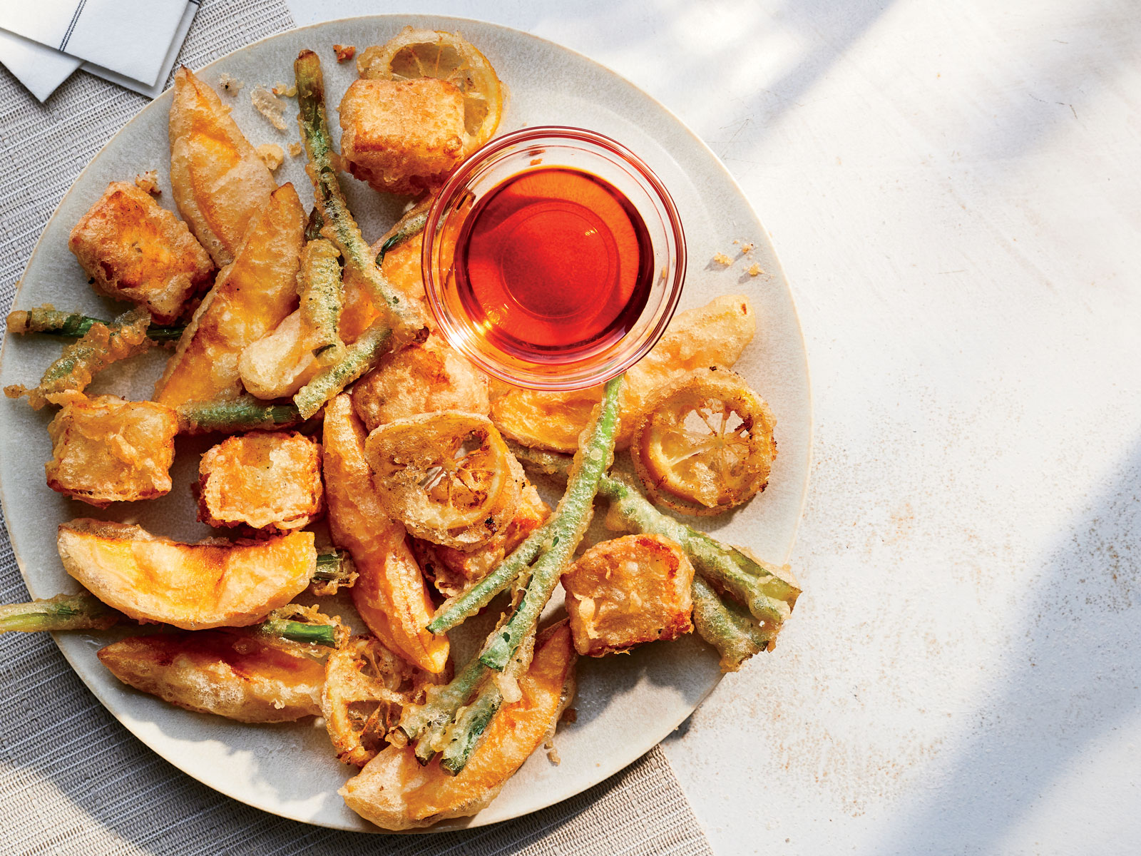 Mango-and-Halloumi Fritto Misto