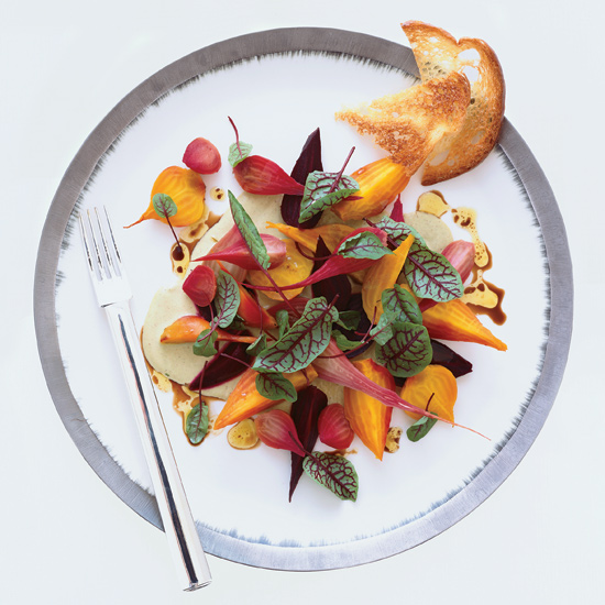 Beet– and –Red Sorrel Salad with Pistachio